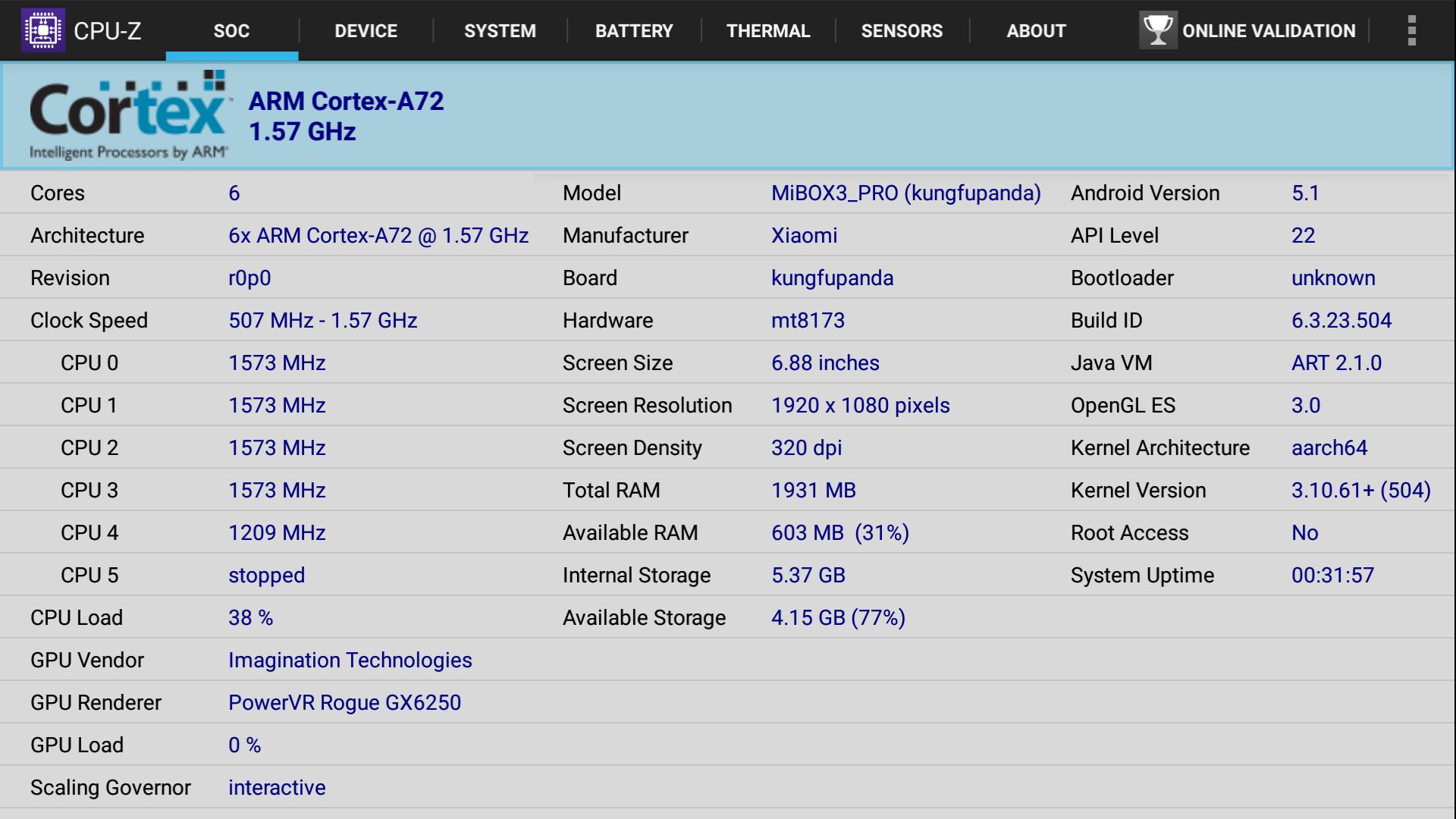 Xiaomi_Mi_Box_3_Enhanced_CPU-Z-Mediatek_MT8693